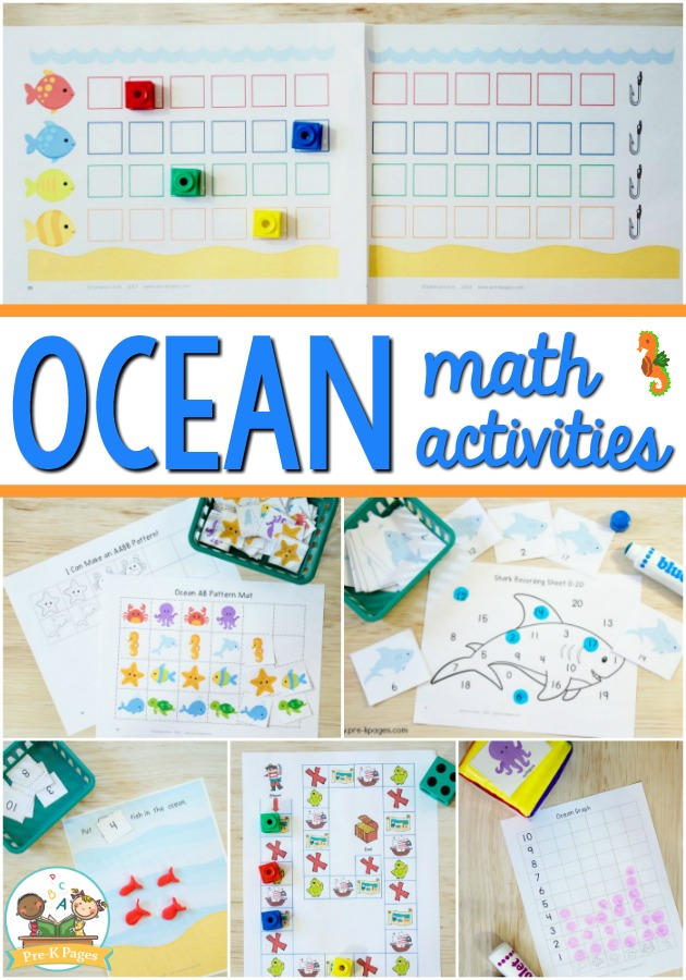 Preschool Ocean Theme Math Activities - Pre-K Pages