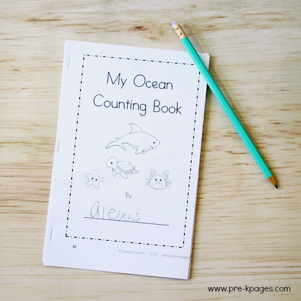 Printable Ocean Theme Counting Book