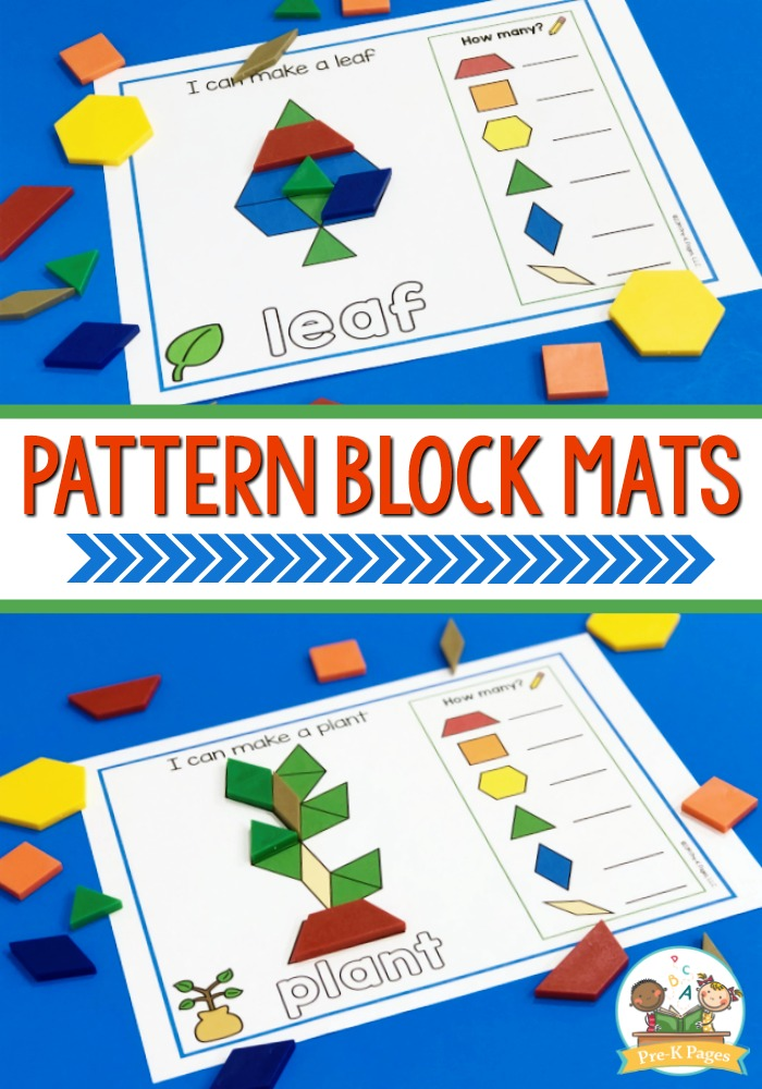 Printable Pattern Block Mats for Preschoolers