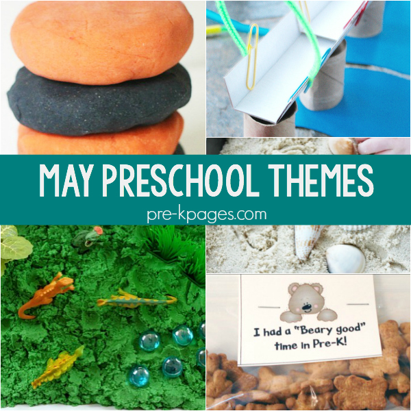 may preschool themes pre-k lesson plans