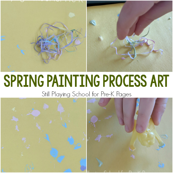 spring easter painting activity Pre-K