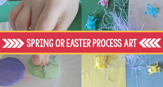 spring easter process art