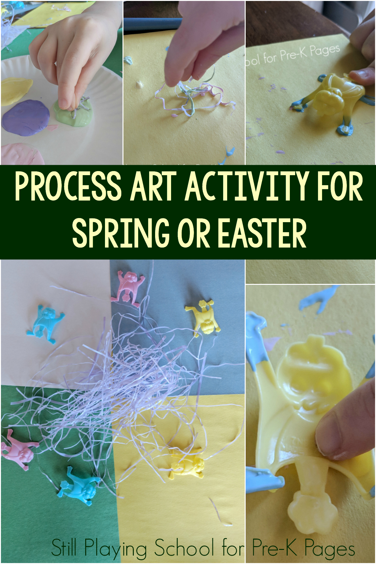spring process art for preschool