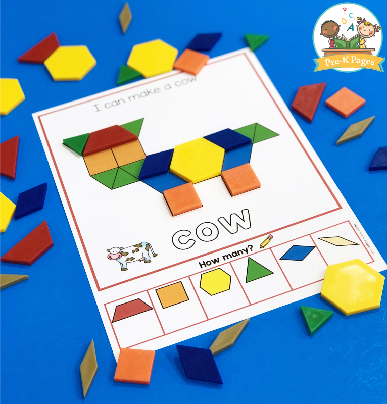 Cow Pattern Block Mat