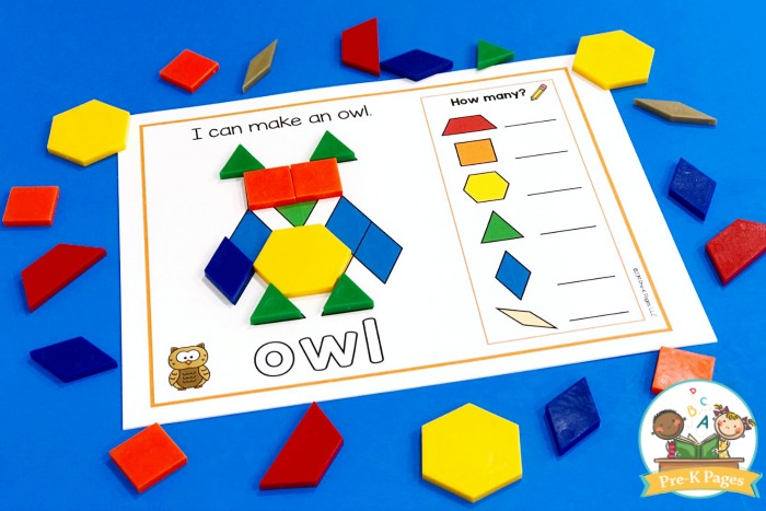 Owl Pattern Block Mat