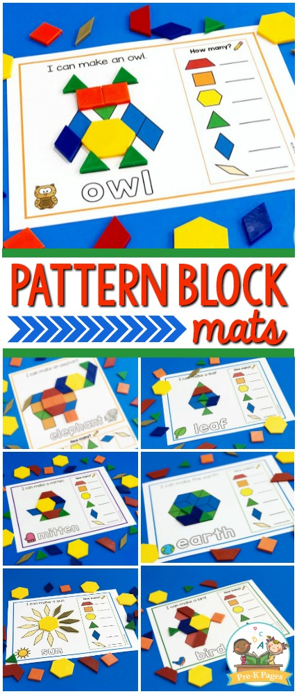 Printable Pattern Block Mats for Preschool