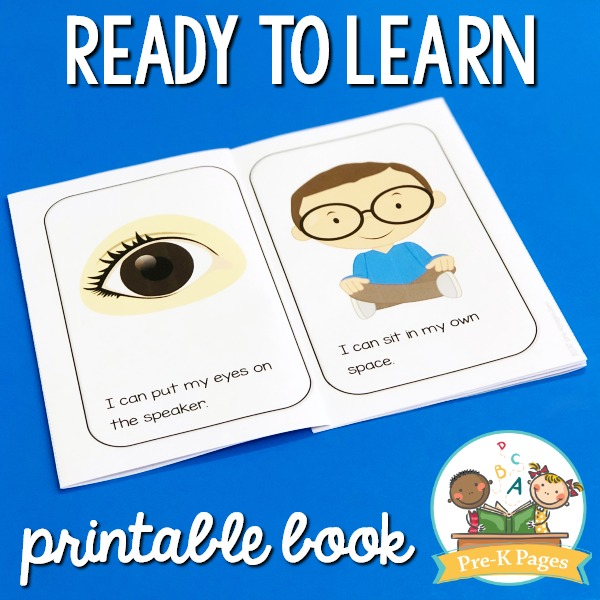 Ready to Learn Printable Book