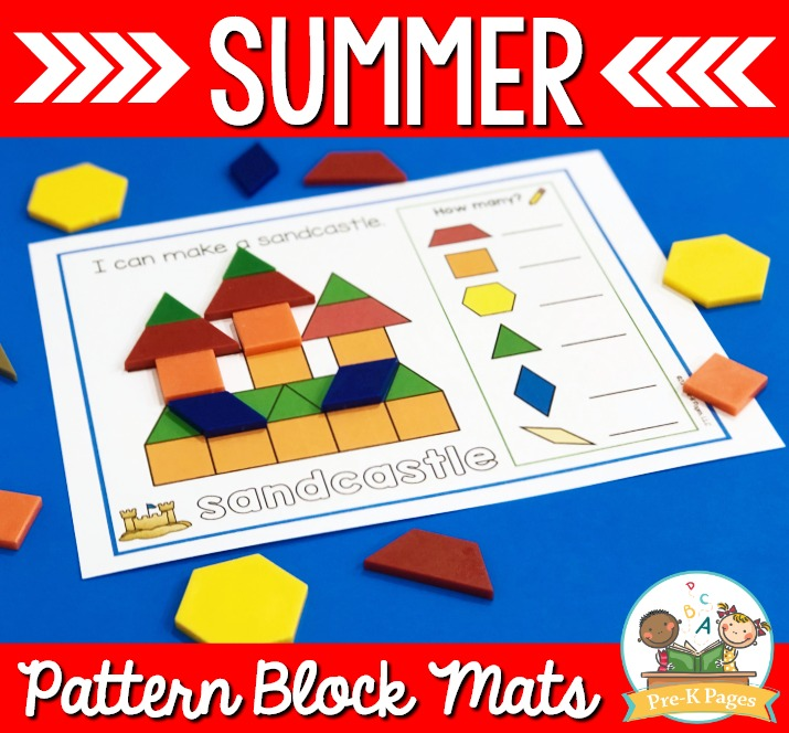 Sandcastle Pattern Block Mat