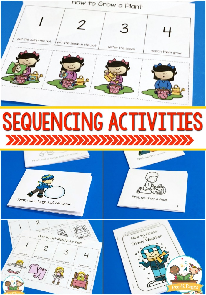 Sequencing Activities For Preschoolers Pre K Pages