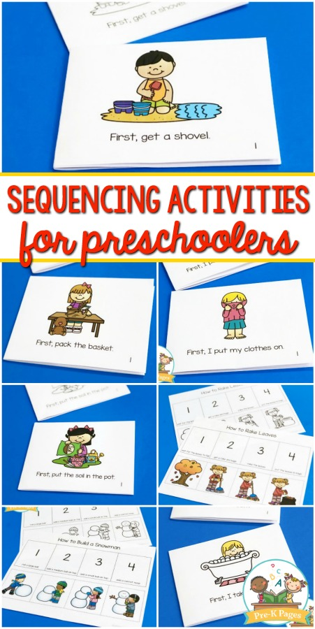 Sequencing Activities for Preschoolers