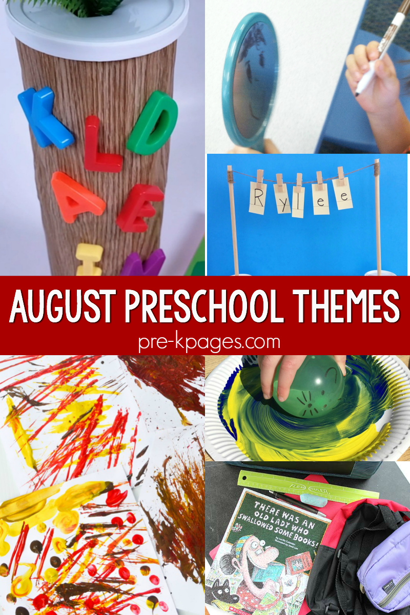 august preschool themes pre-k curriculum