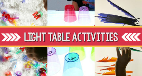light table box activities