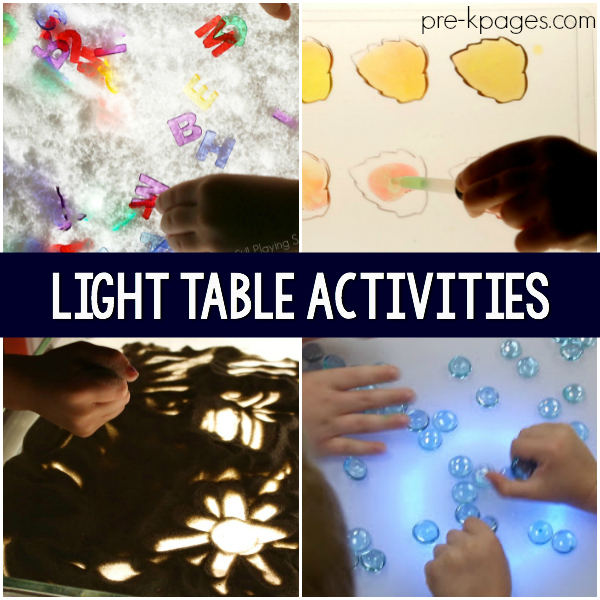 light table center pre-k