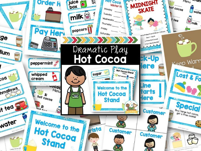 Hot Cocoa Dramatic Play