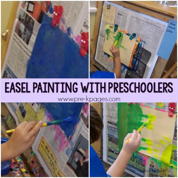 art painting easel pre-k