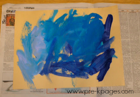 easel painting hues