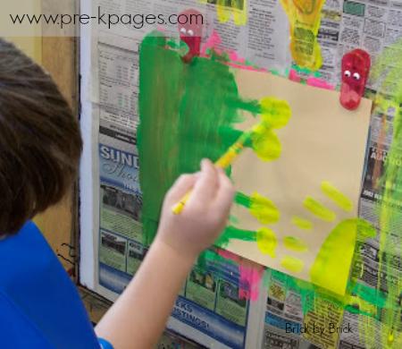 easel painting kindergarten