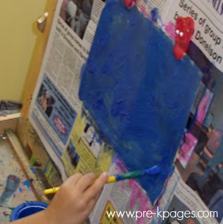 easel painting one color