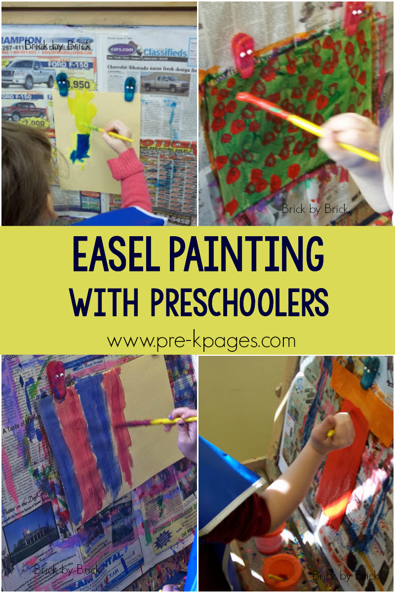 easel painting preschool art
