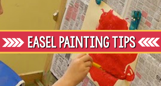 easel painting tips preschool pre=k