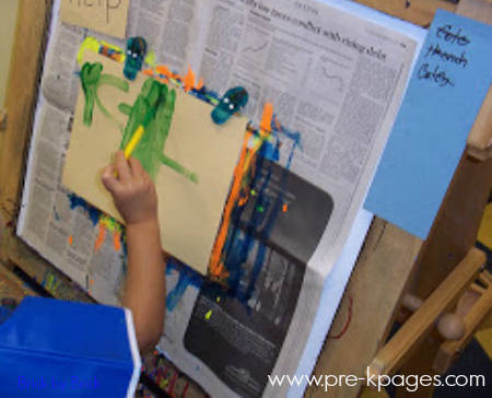 easel painting art waiting list preschool