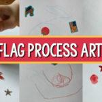 flag process art July 4