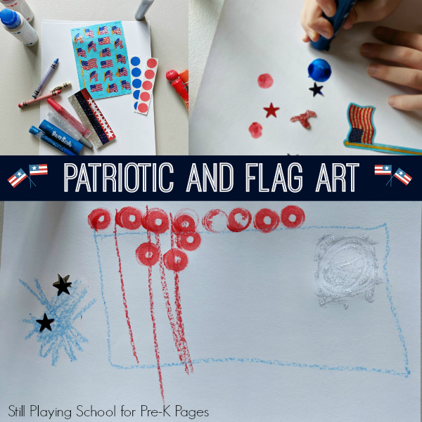patriotic July 4 art pre-K