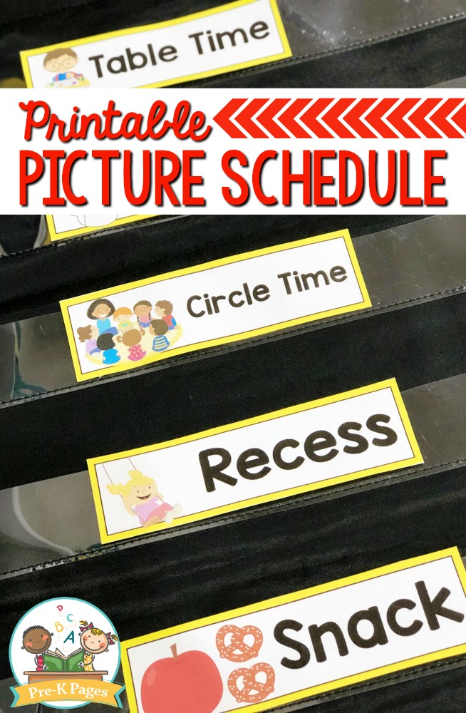 Preschool Picture Schedule Cards