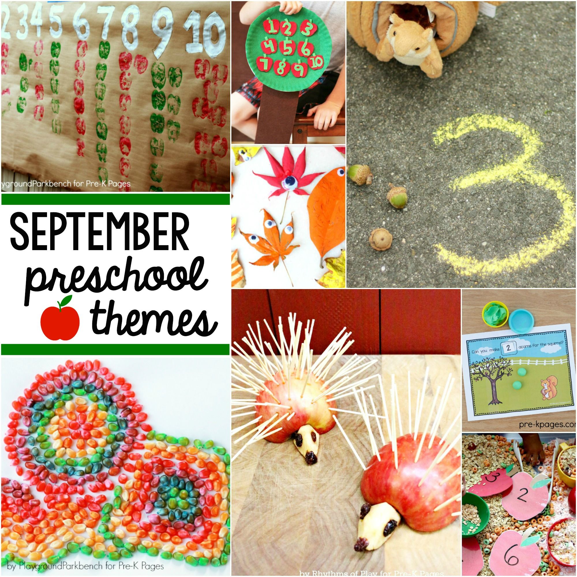 September Preschool Themes Pre-K