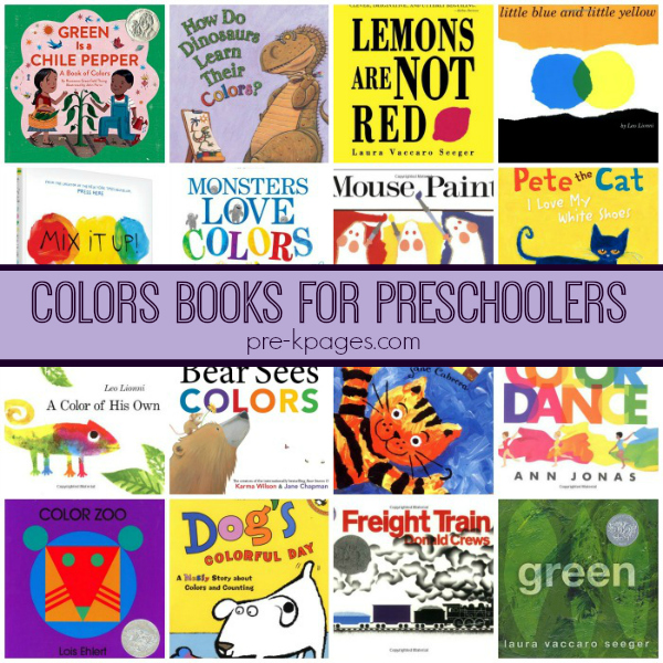 colors books pre-K