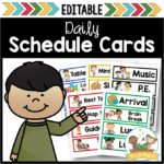 Editable Picture Schedule Cards