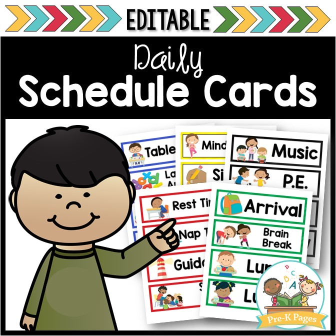 picture relating to Free Printable Visual Schedule for Preschool identify Visualize Timetable Playing cards for Preschool and Kindergarten