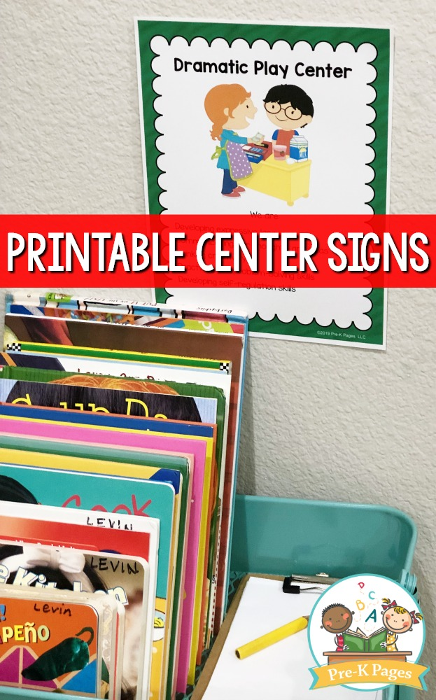 Dramatic Play Center Sign