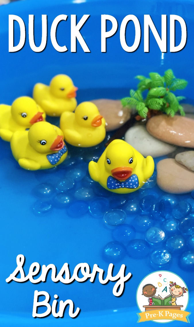 Duck Pond Theme Sensory Bin