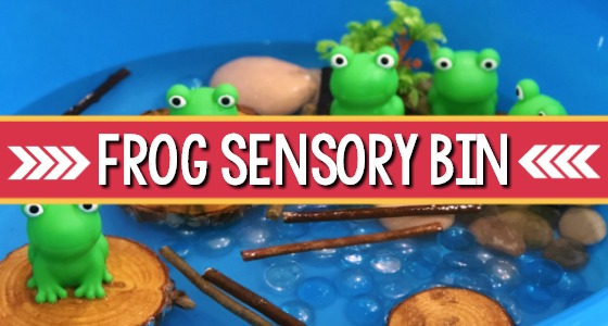 Frog Sensory Bin for Preschool
