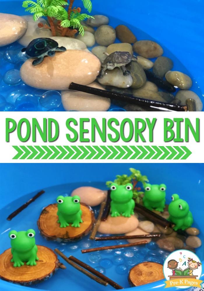 How to Make a Frog Pond Sensory Bin