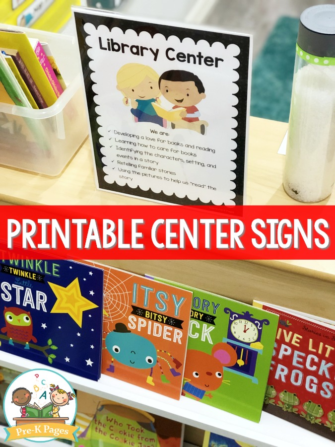 Library Center in Preschool