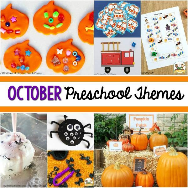 October Preschool Themes Pre-K