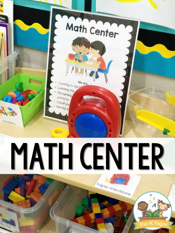 Pre-K Math Center Set Up