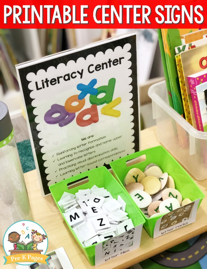 Preschool Literacy Center