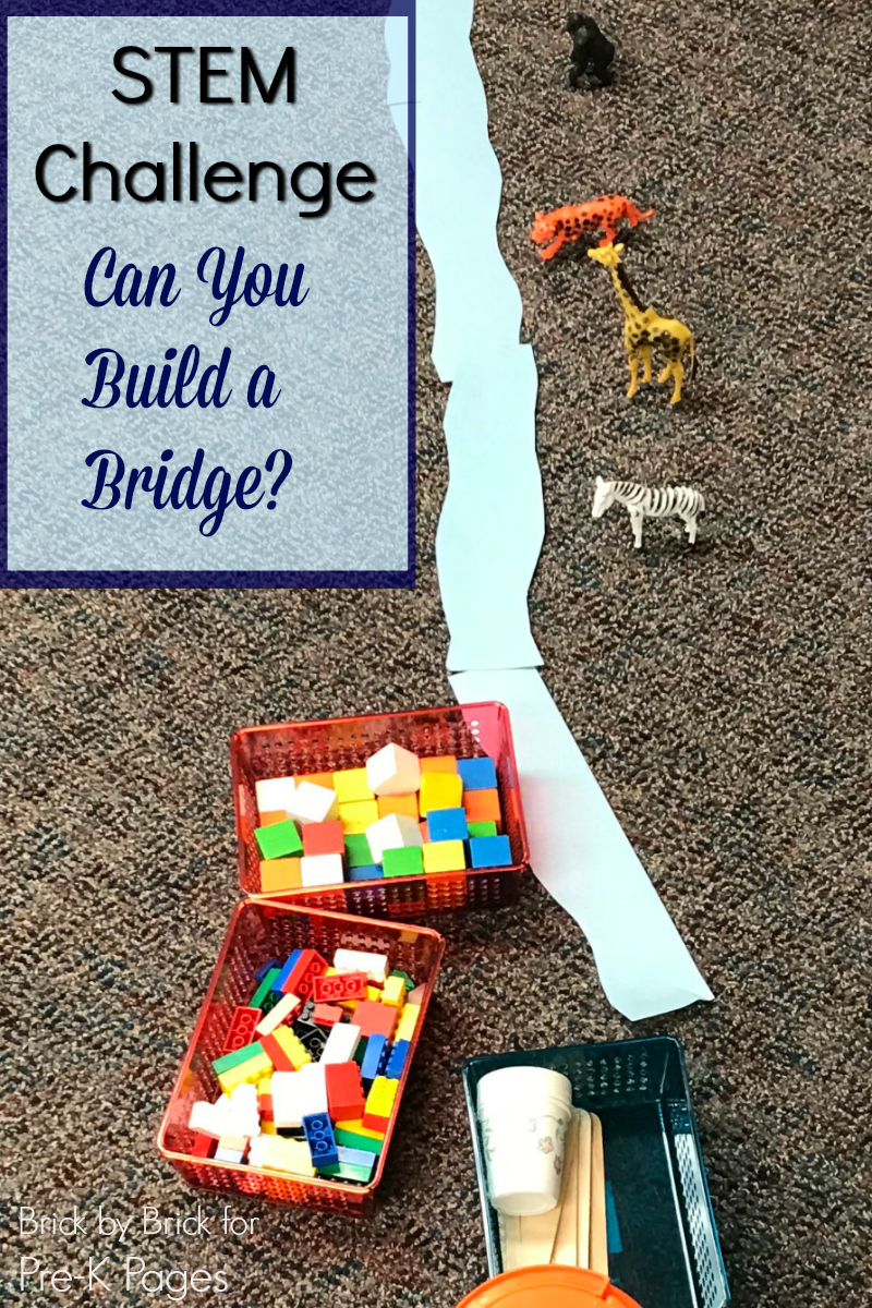 Stem Preschool Activity Build A Bridge Pre K Pages