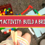 STEM preschool bridge building
