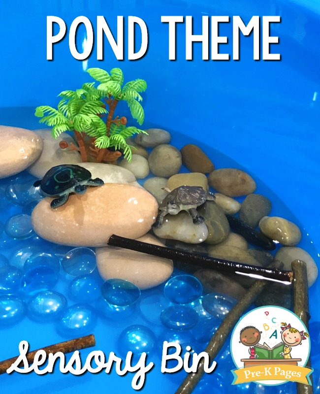 Turtles in the Pond Sensory Play