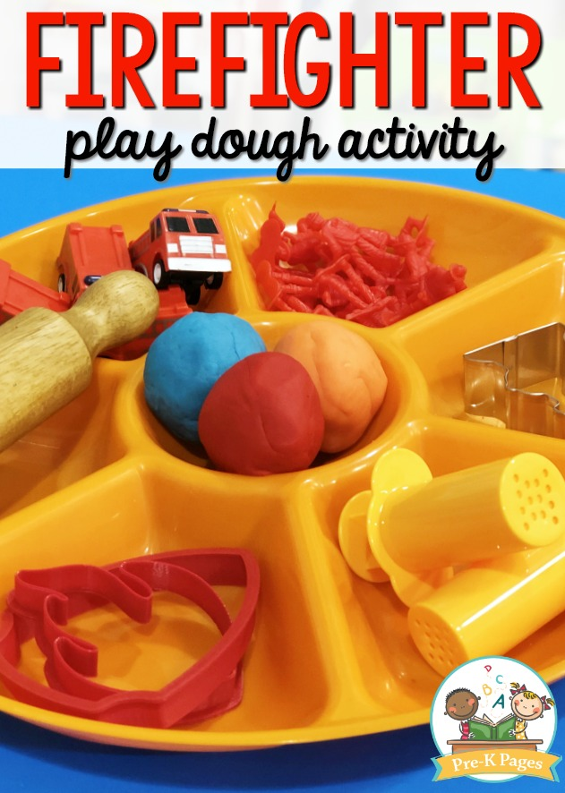 Fire Prevention Play Dough Activity