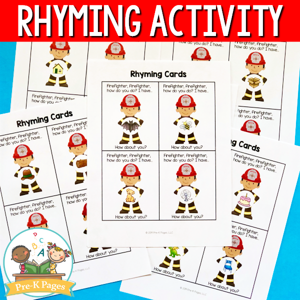 Fire Prevention Rhyming Activity