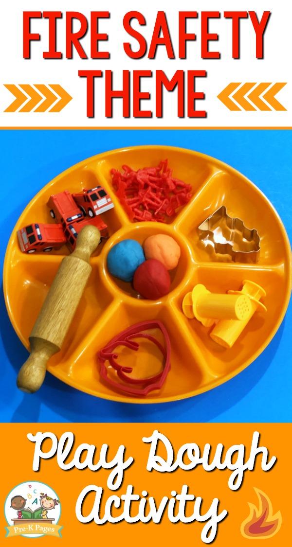 Fire Prevention Week Play Dough Center