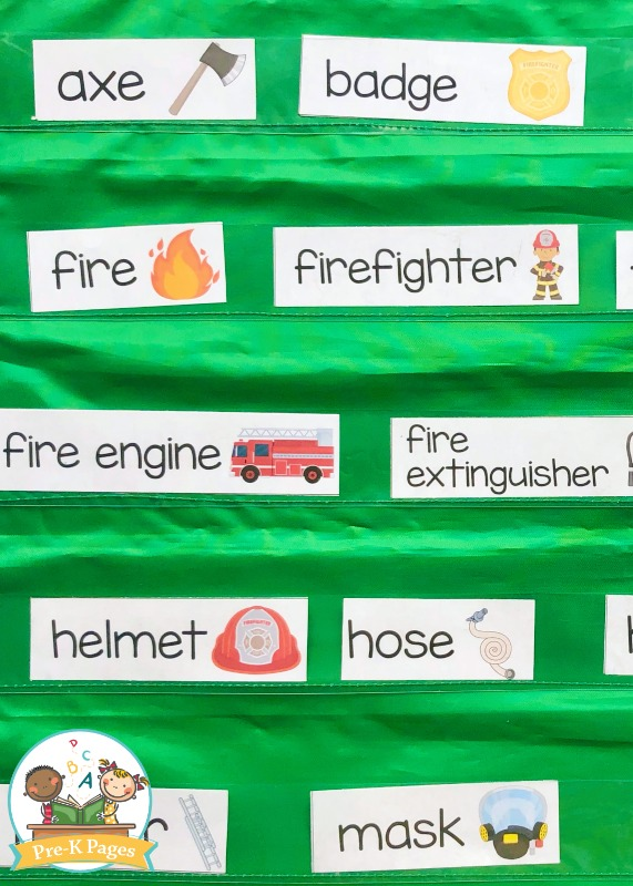 Fire Prevention Word Cards