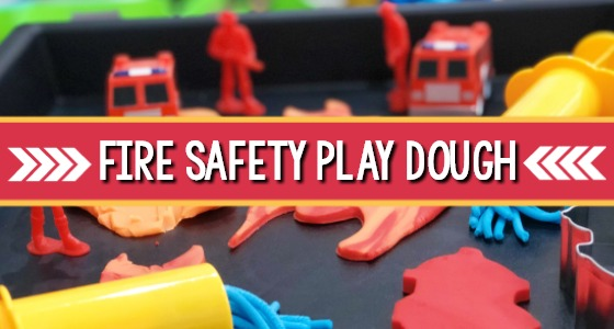 Fire Safety Play Dough Activity