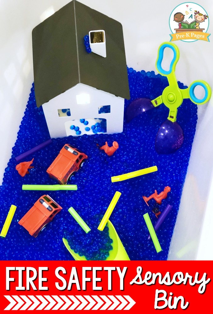 Fire Safety Sensory Bin