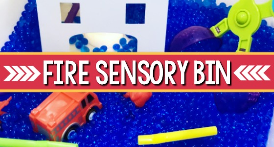 Fire Safety Sensory Bin for Preschool